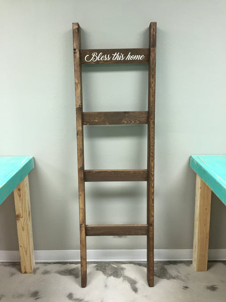 Blanket Ladder [Teal Plank To-Go]