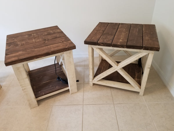 Farmhouse Side Tables {Set of 2}