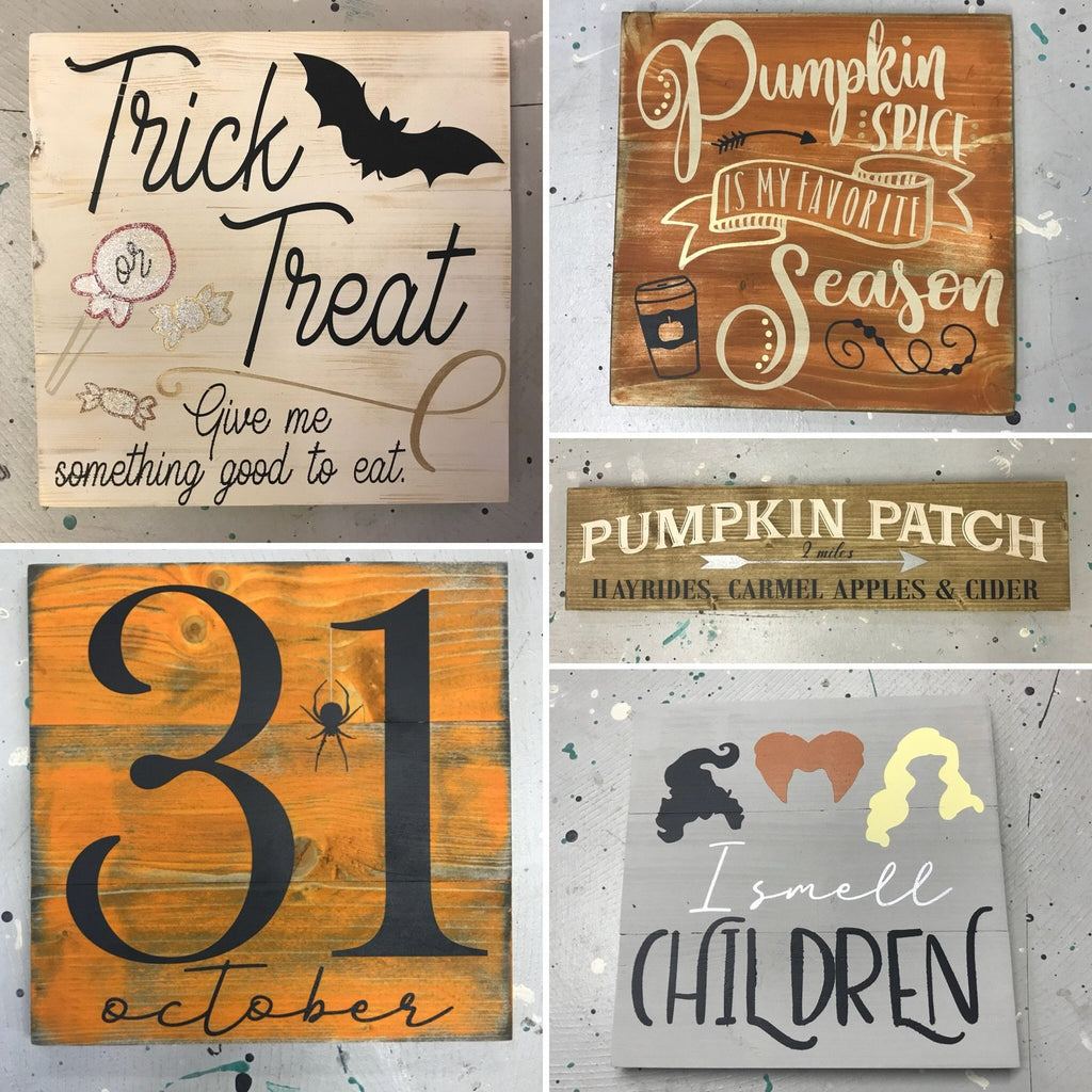 Mini Plank Signs {Set of 2} PRIVATE PARTIES