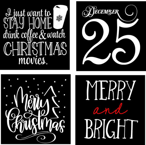 Christmas Mini Plank Signs {Set of 2}