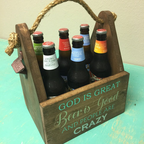 Beer Caddy [Teal Plank To-Go]