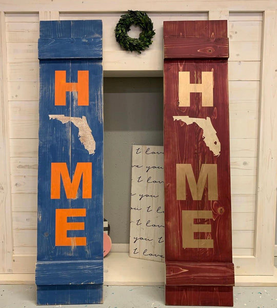 Leaning Porch Signs {Double Sided} [Teal Plank To-Go]