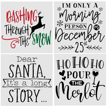 Holiday Mini Signs Kit