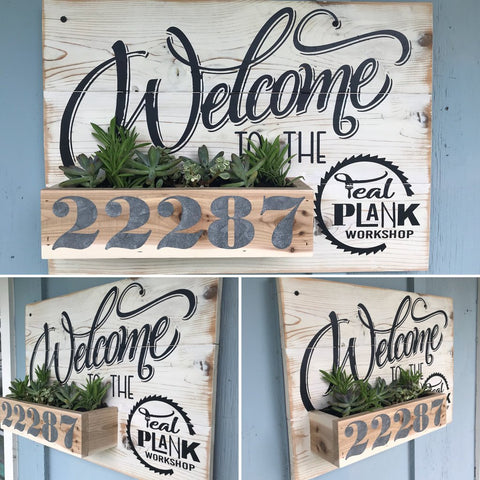 Address Planter [Teal Plank To-Go]
