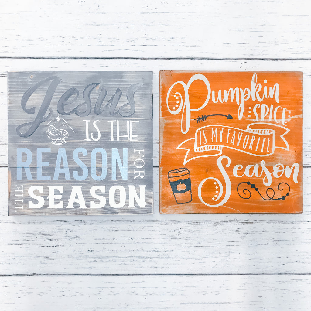 Mini Plank Signs {Set of 2}