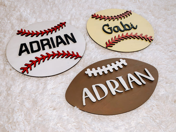 Custom Name 3D Sport Sign Kit - Shipping, Pick-Up or Delivery