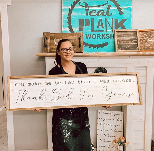 Skinny Plank Sign