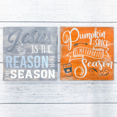 Mini Plank Signs {Set of 2} [Teal Plank To-Go]