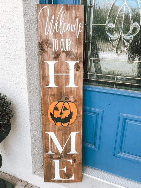 Interchangeable Leaning Porch Sign