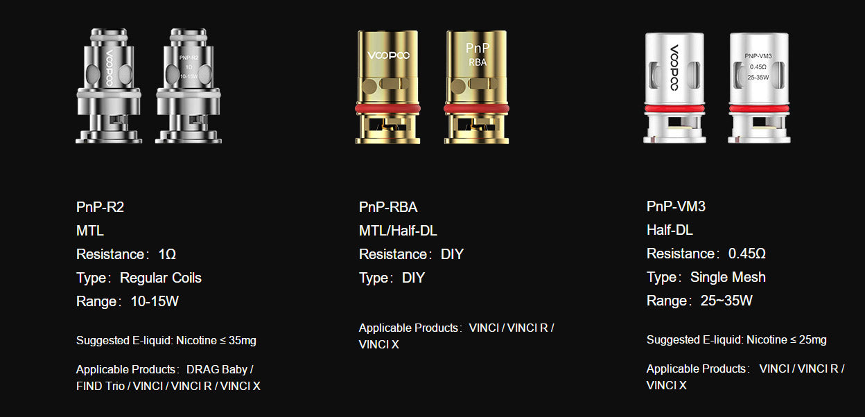 Voopoo Replacement Coils for Drag Baby Tank/VINCI Kit | Australia Free Shipping