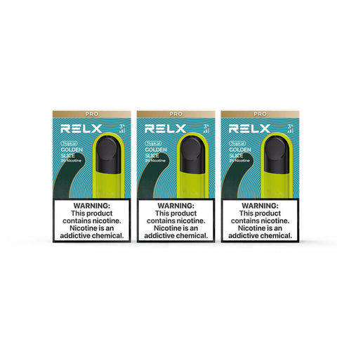 RELX Pod Pro - Golden Slice (Mango) (3 Packs)