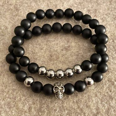 """Strength, Focus & Grounding"" Stretch Bracelet Set"