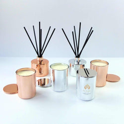 ESSENZA rose gold reed diffuser