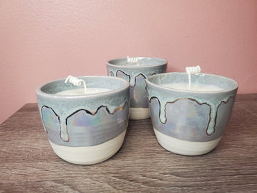 Pottery Candle - Lavender purple (Otter Potter)