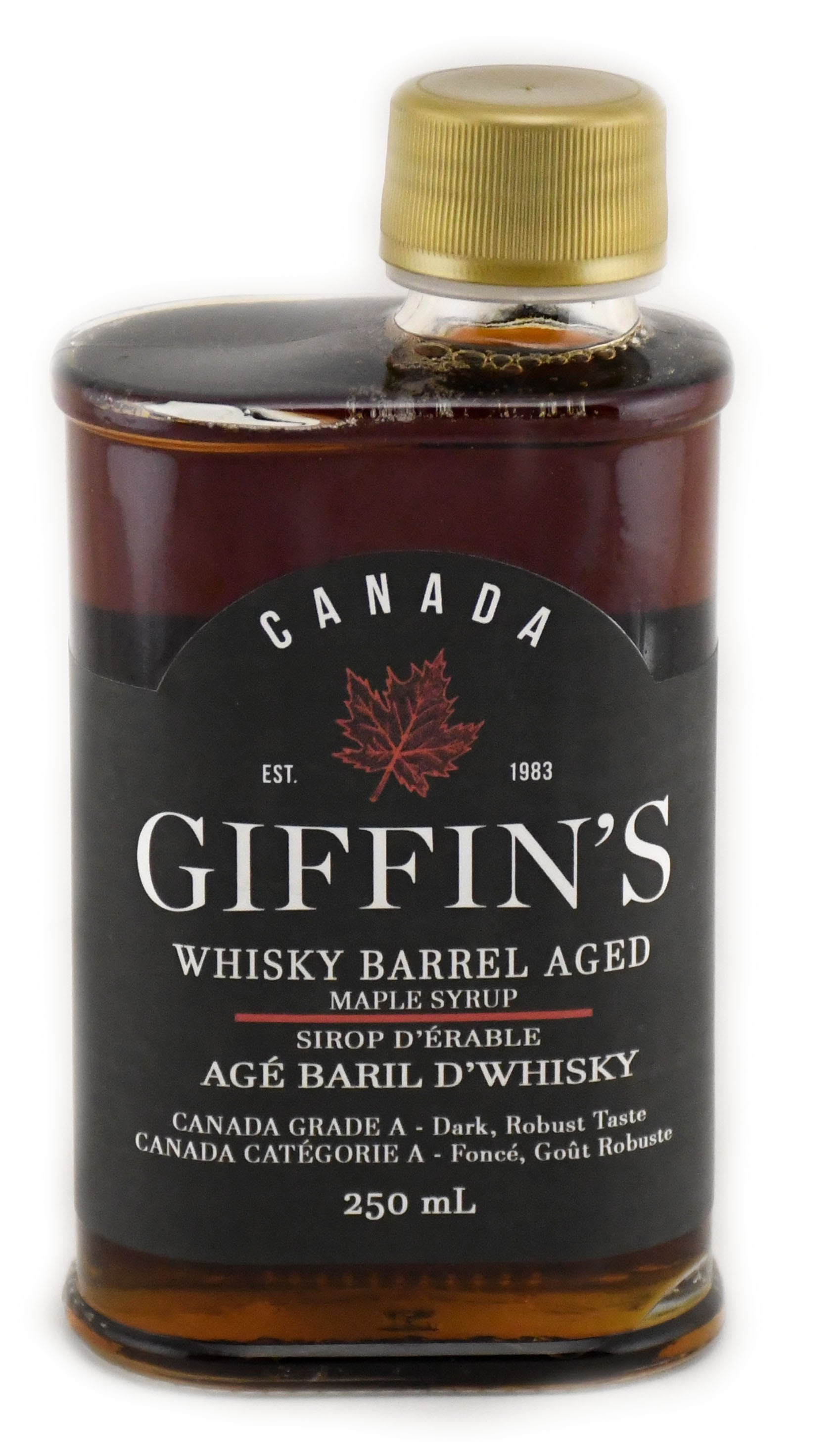 250 ml Whisky Barrel Aged Syrup - Canada Grade A - Dark