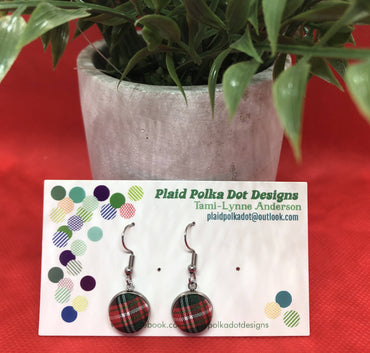 Red Tartan Earrings