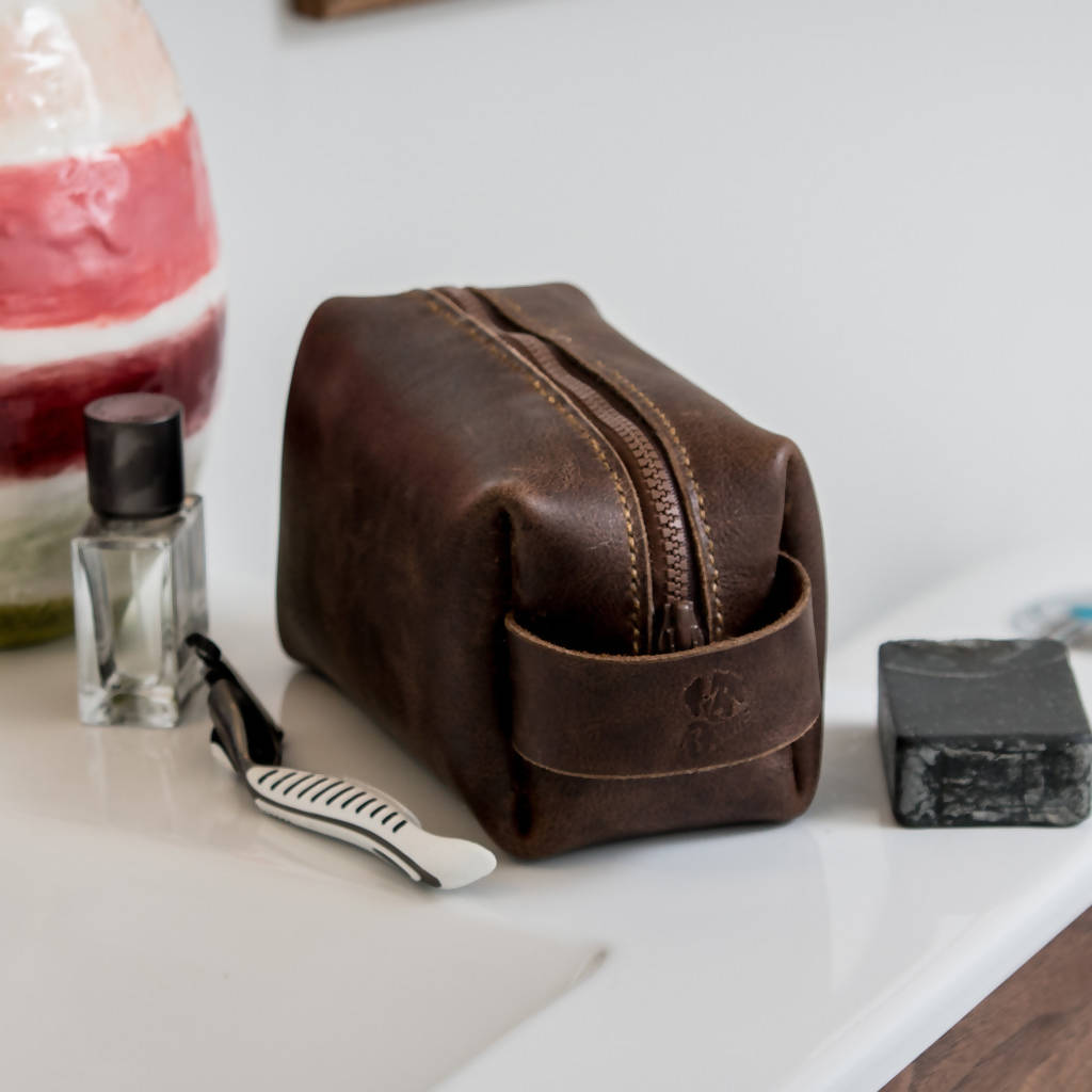 Leather Toiletry Bag Customizable