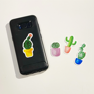 Cactus Vinyl Sticker Set