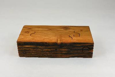 Wood Puzzle box, engagement box, small jewellery box, ring storage, salvaged Douglas fir wood, tp24