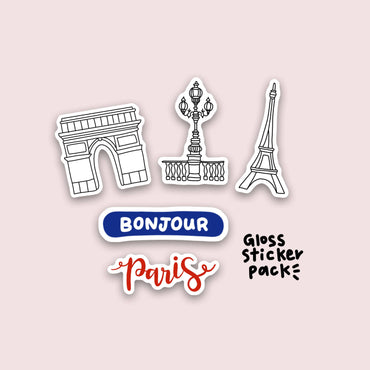 Paris Sticker Set