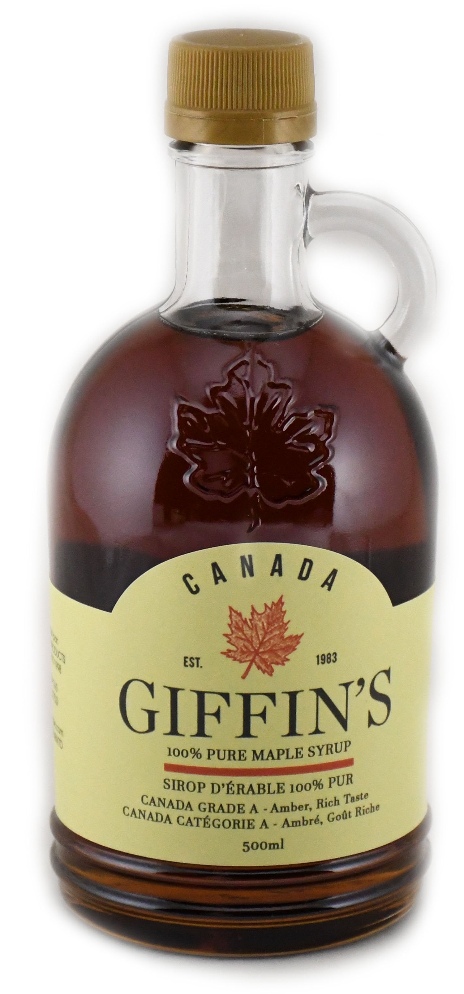 500ml Glass Growler - Canada Grade A - Dark