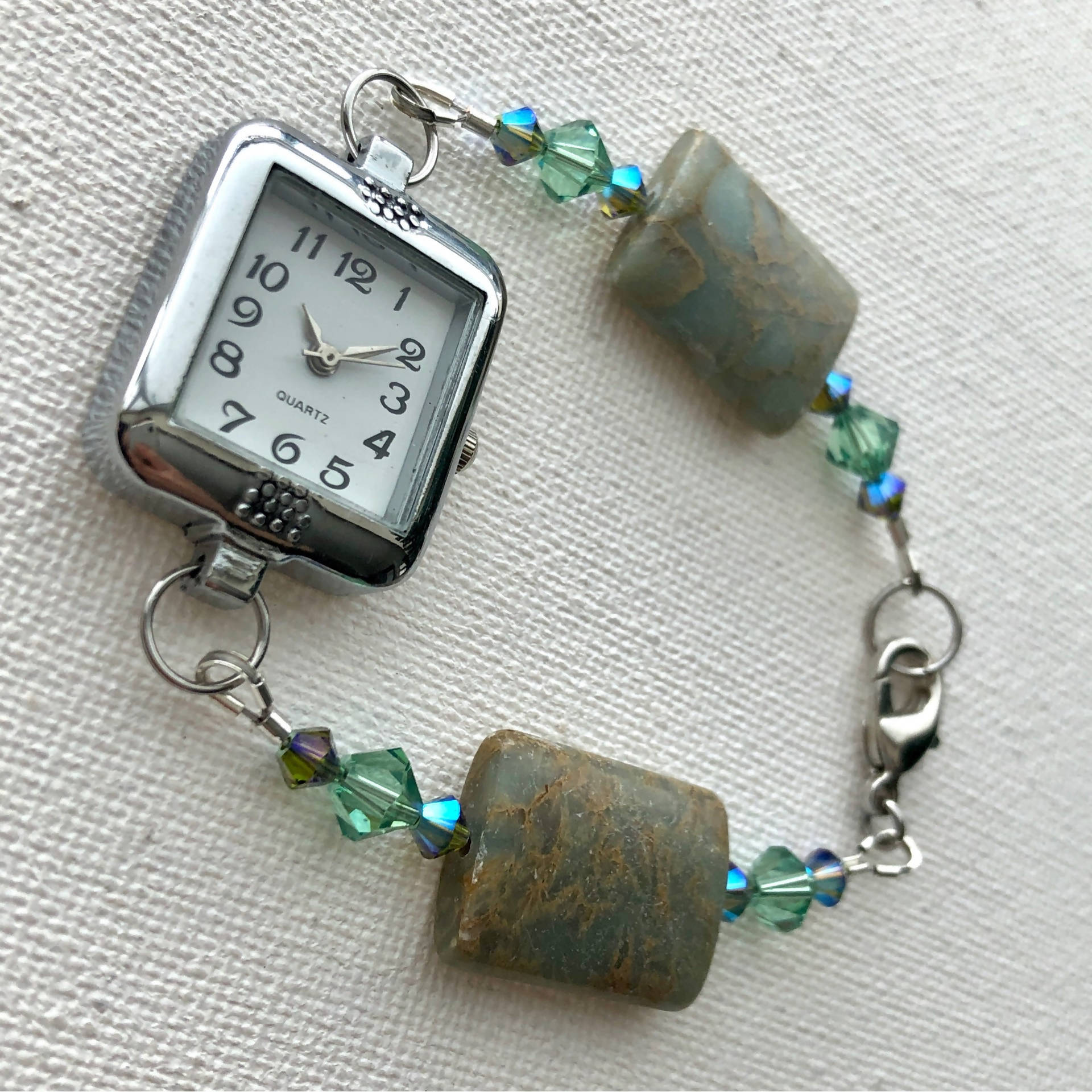 Watch beaded bracelet