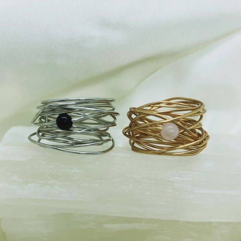 Gemstone Wire Wrap Rings