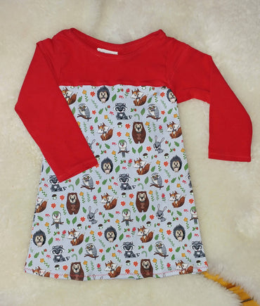 Tunic Dress - Forest Friends - 2T