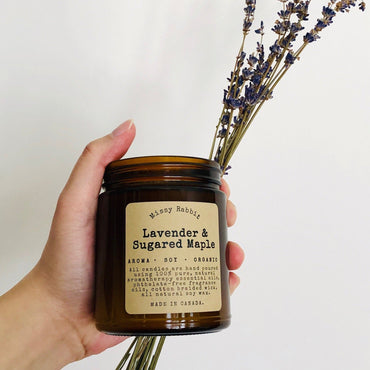 Lavender & Sugared Maple Handcrafted Soy Candle