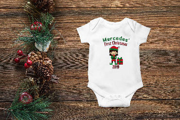 Personalized First Christmas (Girl) Onesie