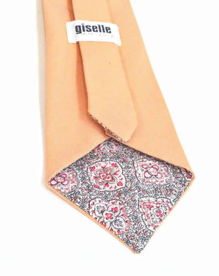 Necktie Handmade with Vintage Peach