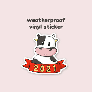 2021 Year of the Ox Vinyl Sticker