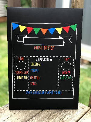 Back-to-School Chalkboard Sign