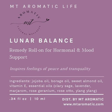 LUNAR BALANCE Synergy Massage Roll-on for Mood Support - Aromatherapy Synergy Blend, Natural remedies - Feeling of Peace and Tranquility