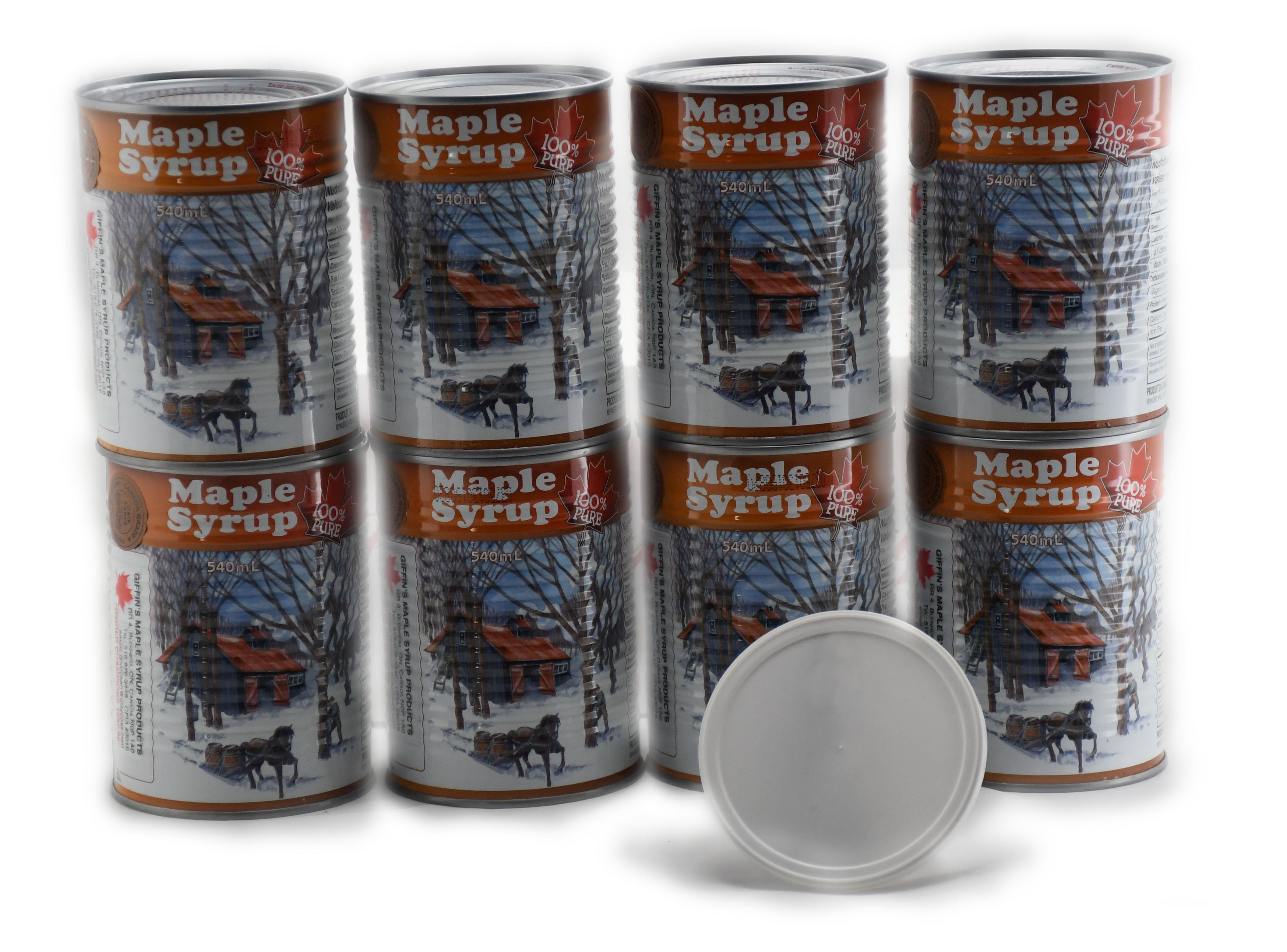 8x 540 ml Cans - Canada Grade A - Amber