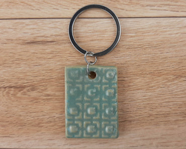 Sea Foam Patterned Keychain