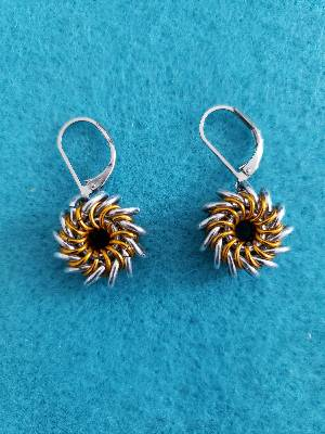Whirlybird earrings