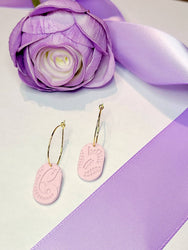 Kilig Hoop Polymer Earrings - Pastel Collection