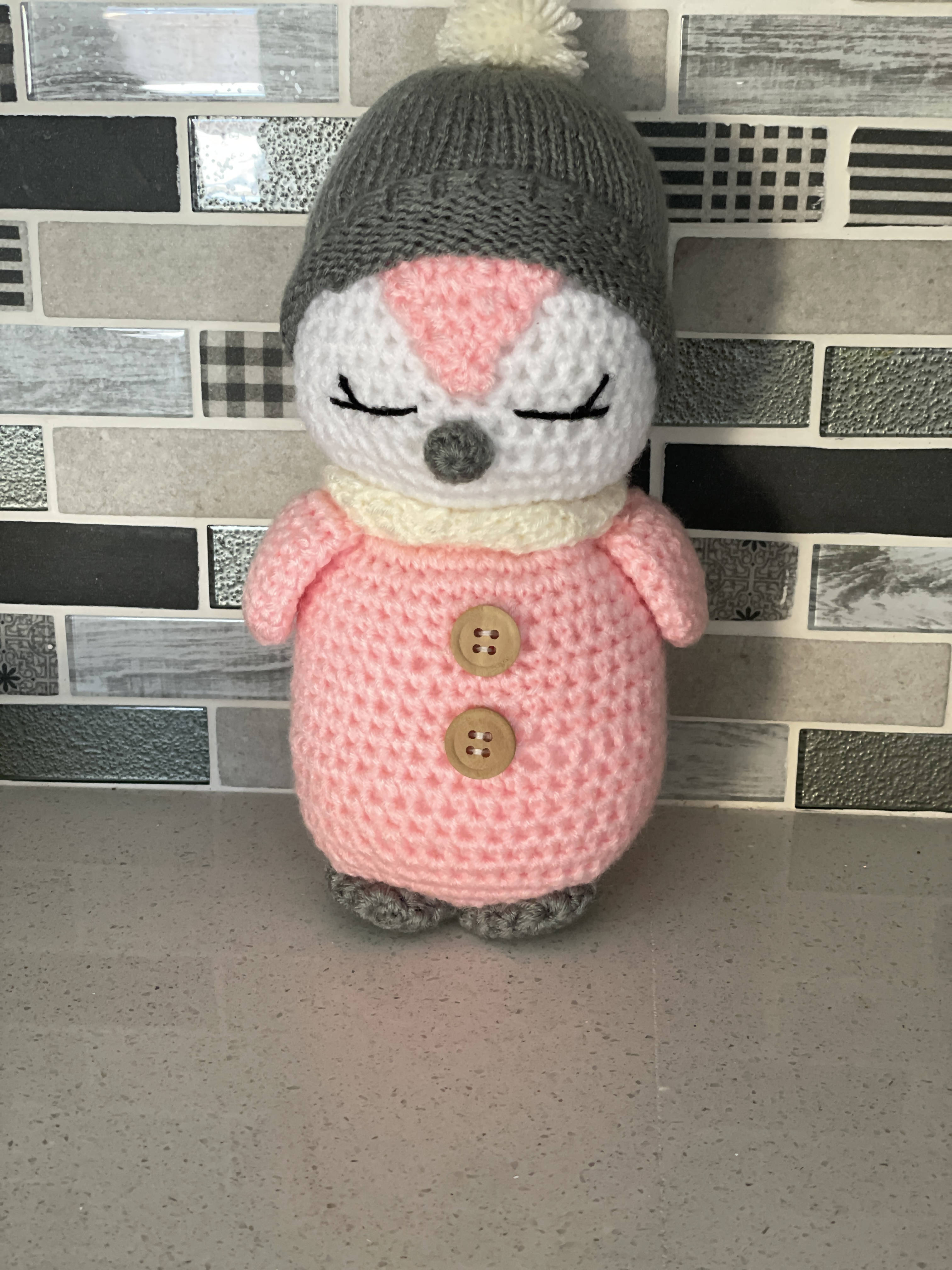 Hand made kids penguine toy