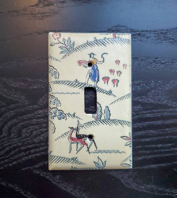 Fancy Handmade Light Switch Cover - Vintage Wallpaper Idyllic Plantation