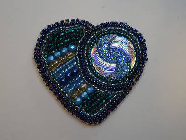 Blue Heart Brooch/ Coeur bleu