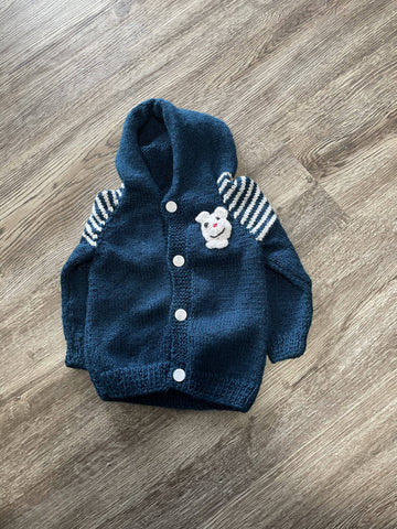 Baby blue hoodie sweater 6 months