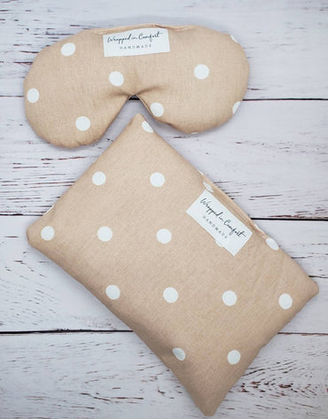 Heating Pad and Eye Pillow Bundle, Rice or Flaxseed
