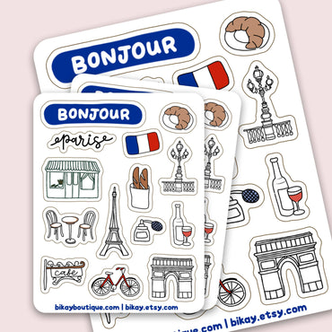 Paris Sticker Sheet