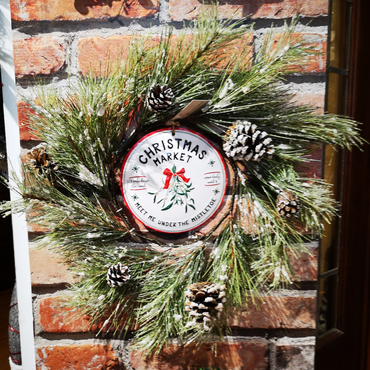 "14"" Christmas Market Wreath"