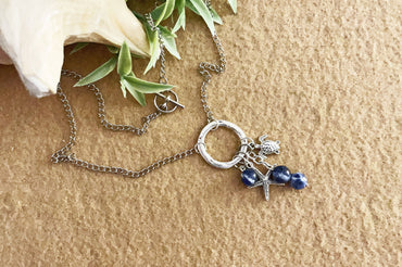"""Confidence, Calm & Clarity"" Sodalite Charm Necklace"