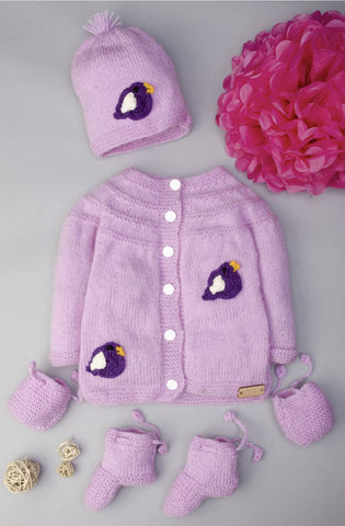 Baby Girl purple sweater set 9-12 months