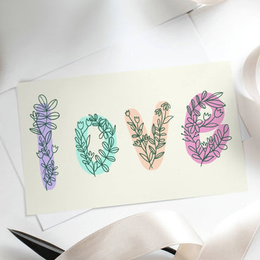 Love botanical Valentine's day Card