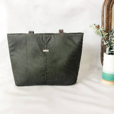 Evelyn Bag - Waxed Canvas - Dark Green