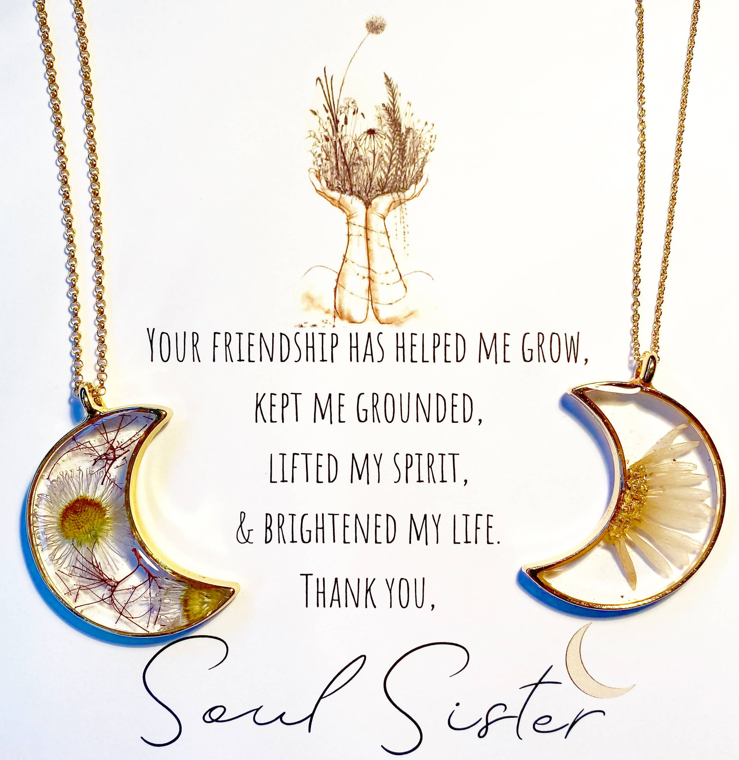 Golden Daisy Soul Sister Necklaces